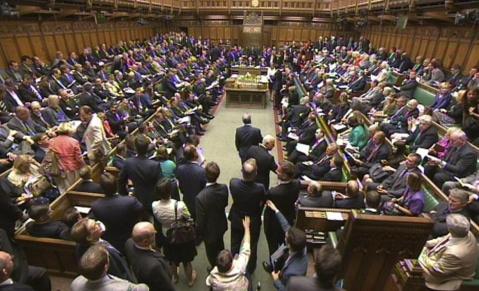 Debate en el parlamento británico